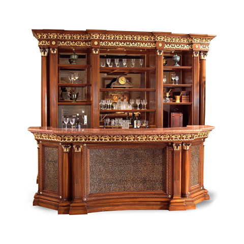 Image of Verona Red Marble Top Bar