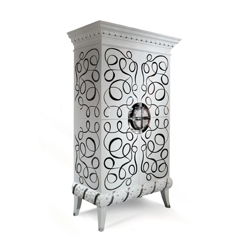 Francesco Molon - Relax Accent Cabinet with Metal Inlays - B502