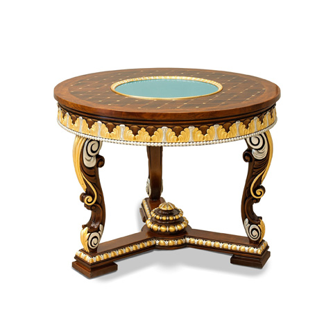 Image of New Empire Inlaid Lamp Table