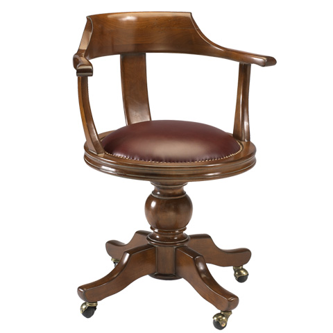 French Heritage - Benjamin Swivel Desk Armchair - A-2327-401-ANT