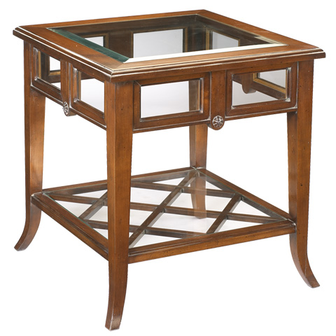 French Heritage - Dome Square Glass Top End Table - A-2341-401-ANT