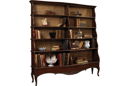 French Heritage - Gaston Open Bookcase with 10 Shelves - A-2349-403-ANSB