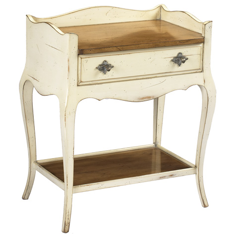 French Heritage - Solange Ivory End Table - A-2441-405-IVLC