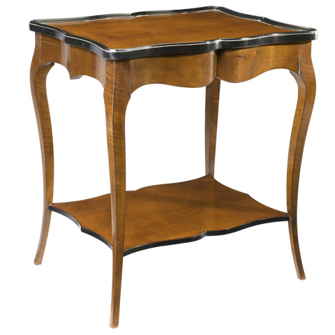 French Heritage - Charlotte Rectangular End Table - A-2441-406-LCBK