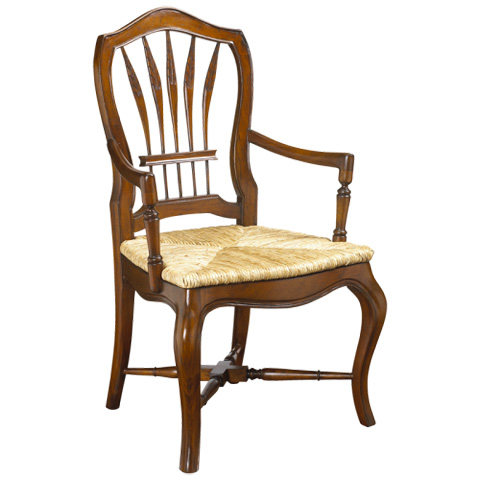 Image of Wheatback Arm Chair with Rush Seat