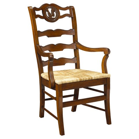Image of Rooster Ladder Back Arm Chair