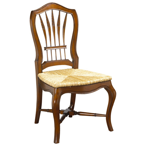 French Heritage - Wheatback Side Chair with Rush Seat - M-1028-001-CHA