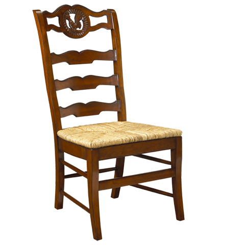 Image of Rooster Ladder Back Side Chair