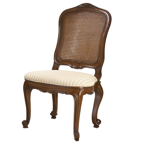 French Heritage - Burgundy Double Cane Back Side Chair - M-1028-202-CHA