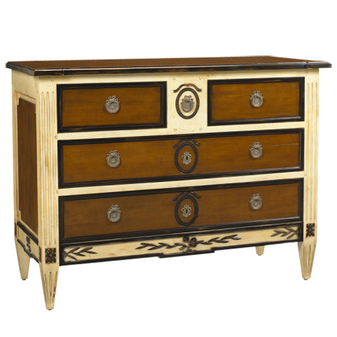 French Heritage - Seizieme Four Drawer Two-Tone Chest - M-1302-601-VOU
