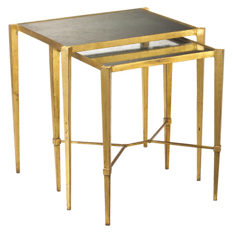 French Heritage - Geneva Metal Nesting Tables - M-1347-103-GLD