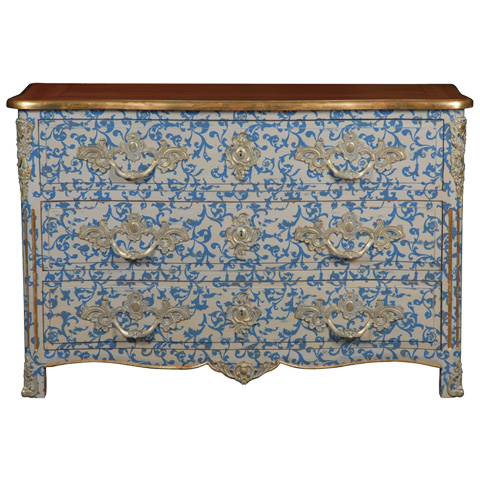 French Heritage - Malvaux Hand-Painted Chest - M-1502-411-BEBL