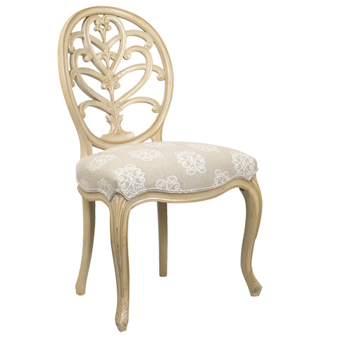 Image of Briance Oval Back Side Chair