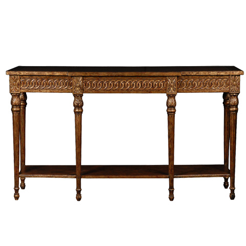 French Heritage - Avallon Carved Console - M-1544-407-LTGL