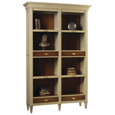 Image of Champlain Double Bookcase with Drawers