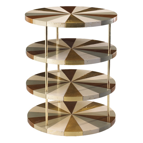 French Heritage - Poiroux Round Tiered Side Table - M-1742-101-IBGB