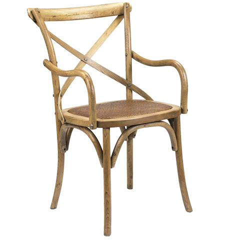 French Heritage - Bosquet X-Back Arm Chair - M-2427-1001-LOK