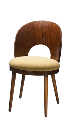 Image of Dian Walnut Curved Side Chair