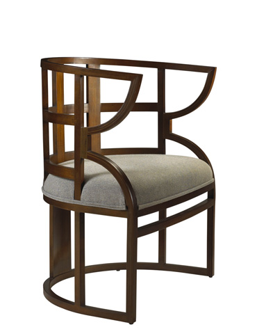 French Heritage - Greta Cut-Out Accent Chair - M-7528-401-AC