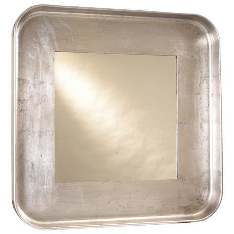 French Heritage - Square Silver Wall Mirror - M-8704-106-SLV