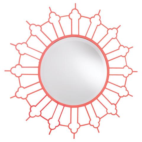 French Heritage - Marrakesh Round Metal Sunburst Mirror - M-8704-114-DKRO