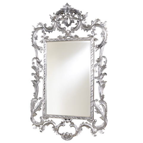 Image of Louis XV Open Carved Metallic Mirror