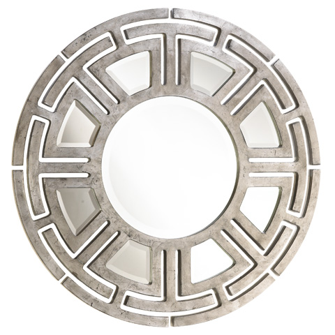 Image of Sahara Round Patterned Wall Mirror