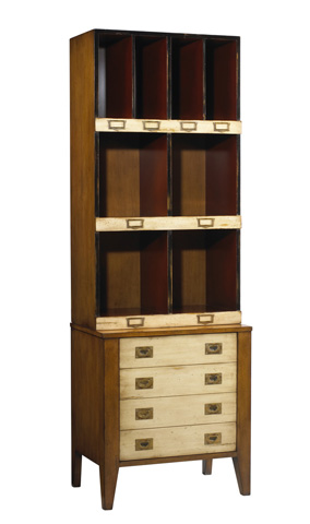 French Heritage - Cube Bookcase with File Drawer - M-FL50-082C-BEI
