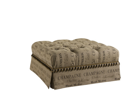 Image of Alexandria Square Tufted Cocktail Ottoman