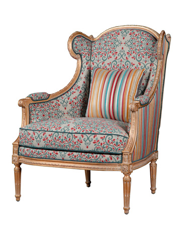 Image of Babette Carved Frame Wing Chair
