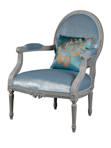 Image of Gardanne Oval Back Accent Chair