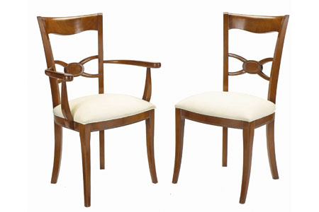 French Heritage - Colbert Dining Arm Chair - A-2327-1102-ANT
