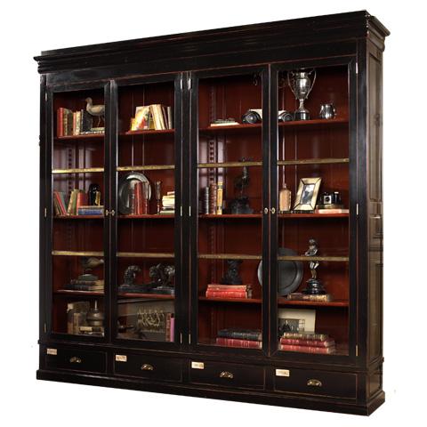 French Heritage - Four Door Cabinet De Curiosities - A-4222-403-BLACK