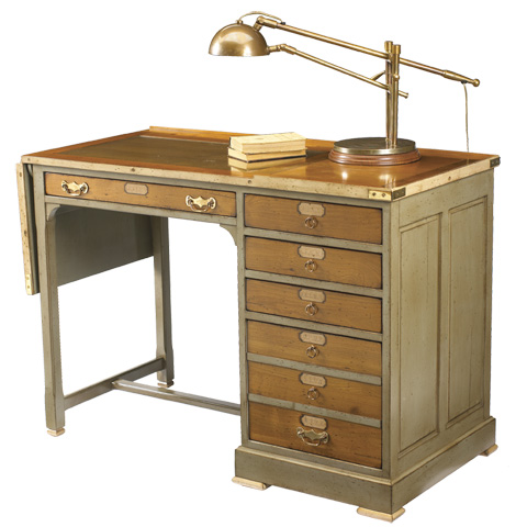 French Heritage - Watchmaker's Desk with Six Drawers - A-4245-402-GYBE