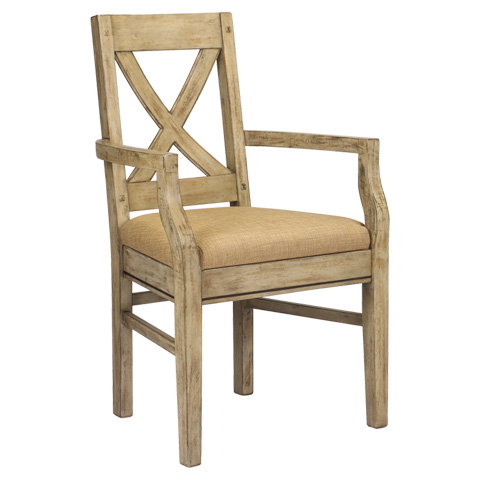 French Heritage - Pyrenees Cross Back Arm Chair - M-2527-1101-DRC
