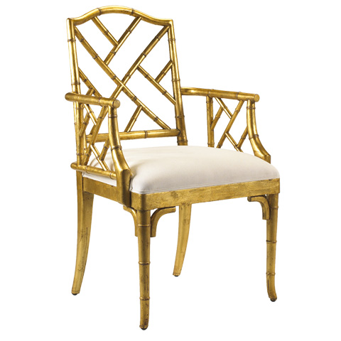 Image of Moselle Arm Chair in Gold