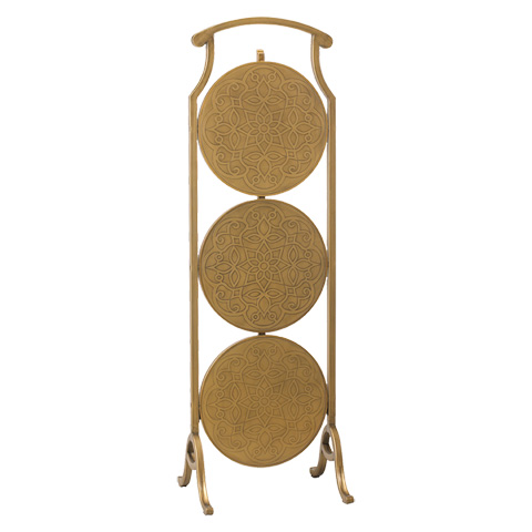French Heritage - Large Round Table in Gold - M-FT90-100-GFIL
