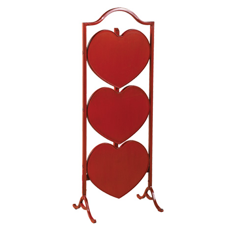 French Heritage - Small Heart Table in Red - M-FT90-450-RED