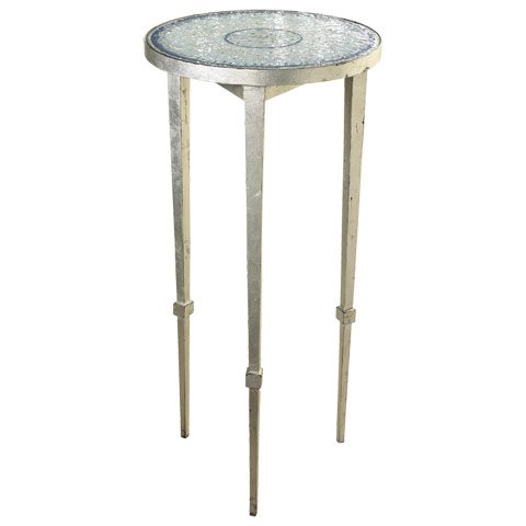 French Heritage - Blue and White Mosaic End Table - M-1342-106-BLWH