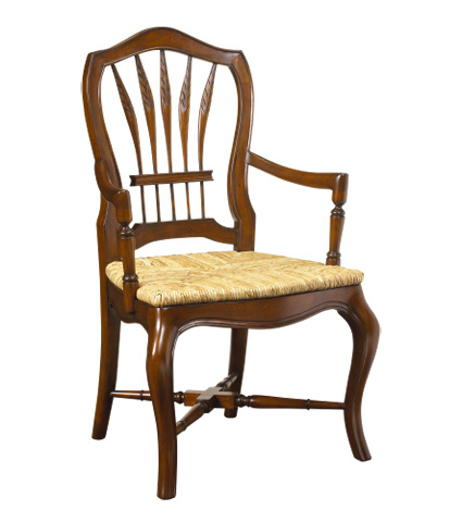 French Heritage - Wheatback Arm Chair - M-1027-001-CBR