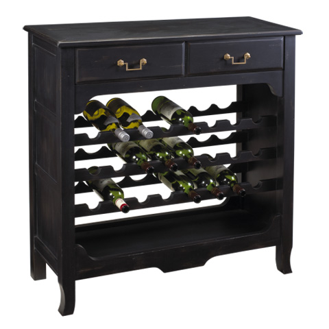 French Heritage - Merlot Wine Rack - M-1359-102-BLK