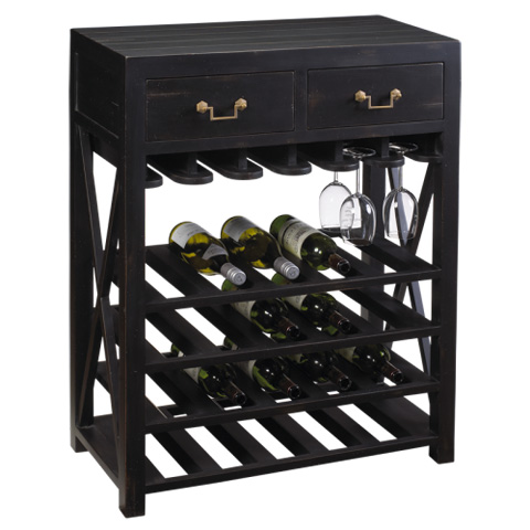 French Heritage - Bosquet Wine Caddy - M-1359-103-BLK