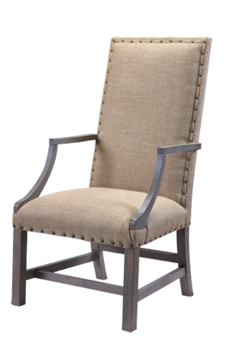 French Heritage - Burlap Arm Chair - M-2527-1104-BURL