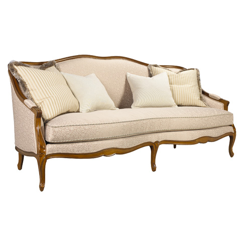 French Heritage - Alexander Wood Framed Sofa - U-3070-0791