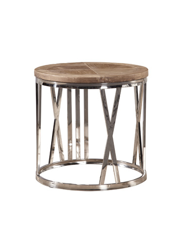Furniture Classics Limited - Round Stainless Steel End Table - 70279