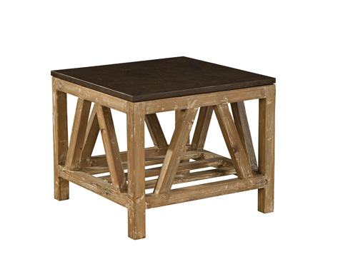Furniture Classics Limited - Old Fir and Bluestone Side Table - 72313