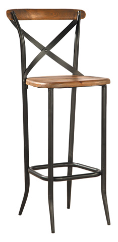 Image of Metal Cross Bar Stool