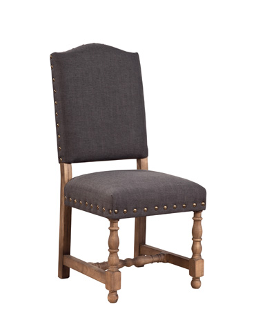 Furniture Classics Limited - Linen Madrid Chair with Nailheads - 91-635G