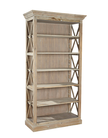 Furniture Classics Limited - Weathered Open Bookcase - 20-024