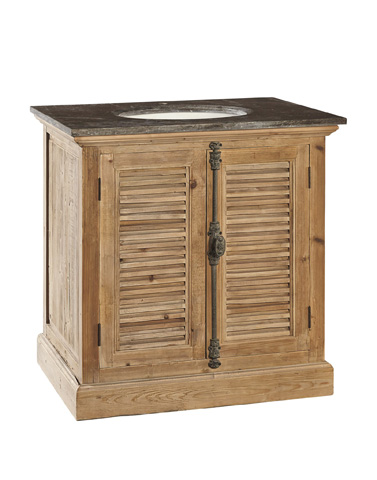 Furniture Classics Limited - Louvered Door Vanity - 20-027